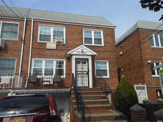 RARE FIND 6 ROOMS 1.5 BATHS OVER 6 ROOMS, 1, 5 BATHS (EACH APT HAS 3 BEDROOMS AND 1/2 BATH IN MASTER BEDROOM FULL FINISHED BASEMENT, 1 CAR GARAGE WITH PRIVATE DRIVEWAY AND LARGE PRIVATE YARD.
