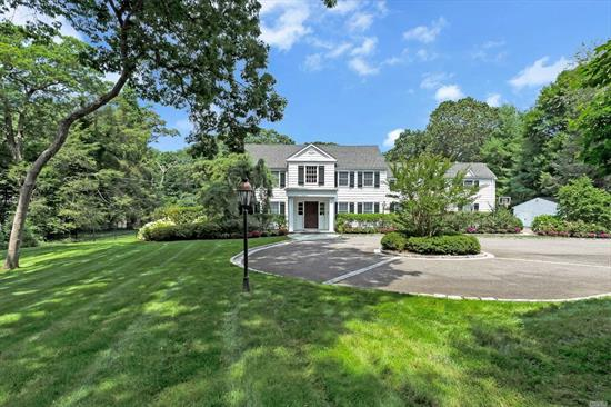 2.25 Flat/Serene Acres on one of the Prettiest Streets in Brookville. Gunite Pool & Jacuzzi/Spa/Built-In Gas BBQ make this a Backyard Paradise. Taxes to be reduced by 27.5% with Nassau County New Reassessment. Warm & Inviting 5 Bedroom UPDATED Colonial w/ 6 Bathrooms. Beautiful Attention to Details Throughout! Generator. Electric Gates. Jericho SD. View Virtual Tour.