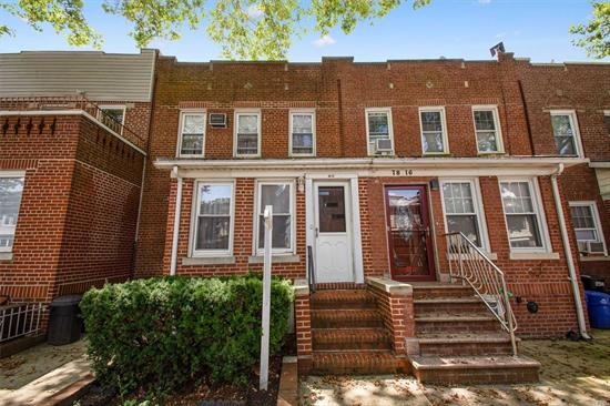 Spacious 20 foot wide, 1 family house on a tree lined street featuring 3 bedrooms, a large living room and spacious formal dining room for entertaining. Public school 119 right down the street! Large 2 car garage. House is very good condition, full finished basement!