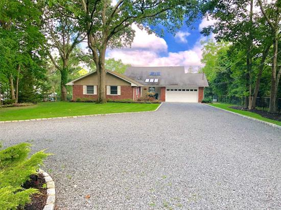 Amazing Water Views, Boater's Dream, Oversized Circ. Driveway & Garage, Prof Landscaped, Fenced, Spacious Trex Wraparound Deck, Cleared Property to Deep Water Canal, 100ft New Bulk Heading w/ Elec & Water, Beautiful Gazebo for Sunsets, Anderson Windows, Sundrenched Rooms, Open/Sprawling Layout, CAC, High Hats, Wood Floors, Custom Trim/Millwork, Wood-burning FPL, Updated Kitchen w/ SS, Great Room w/ Cathedral Ceiling, Magnificent Master Suite w/deck, 1st Flr Opt Master, Enjoy Forever Water views!