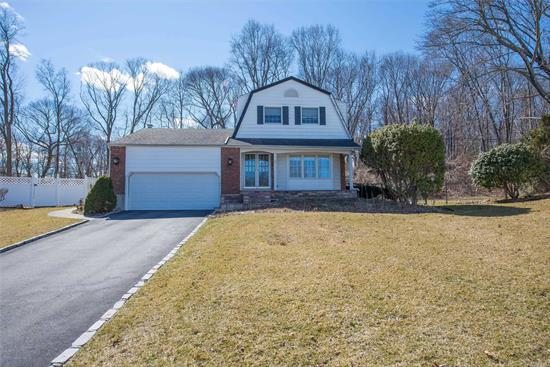 Very Desirable 4 Bedroom, 2.5 Bath Colonial Located on Quiet Cul-de-Sac, Large Formal Living Room/Dining Room, EIK, Den w/Gas Fireplace, Full Basement, 2 Car Garage, IGS, Updates Include Gas Heat & Hot Water. The Possibilities & Potential Are Endless!! Conveniently Located to LIRR & Parkways. Beautiful Sunken Meadow State Park Close By.
