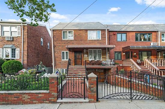 Semi detached Brick 2 Family. 3 bedrooms each apt., full finished basment, 1 car garage, private driveway, yard and front patio. Modern kitchens with SS appliances.