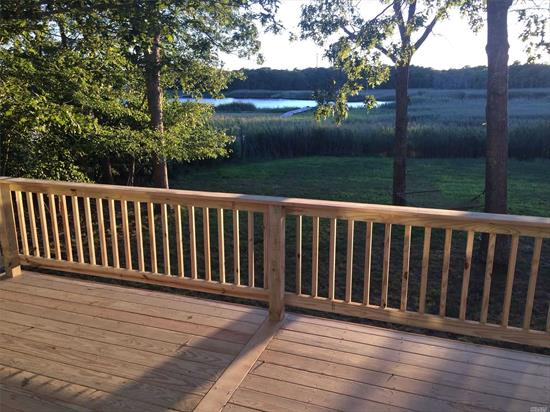 Waterfront Summer or Winter Rental. Deck with gorgeous waterfront views. 4 Bedrooms, 2 Full and 1 Half Bath.