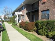 Beautiful 1 bedroom apartment on first floor, large living room w/ A/C, formal dining room, large bedroom w/ A/C, full remodeled bath, plenty of closets, terrace, washer/dryer (pay for use) & extra storage in basement, bbq area on premises, close to highways & shopping areas. Need board approval.