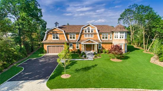 Built By Beer New Construction - Serene Hampton Shingle Style Home in Country Estates. Double Height Dramatic Entry Foyer Leads To Generous Well Appointed Rooms. Architectural Details Were Carefully Considered to Achieve Exceptional Quality, Modern Functionality and Top-Of-The-Line Finishes at Every Turn. .66 Acre Of Expansive Outdoor Living With Lush Landscaping Design. 6, 100 Sq Ft, 6 Bedrooms, 5.5 Baths, 3 Fireplaces. Luxury Living. East Hills Pool & Roslyn School District.
