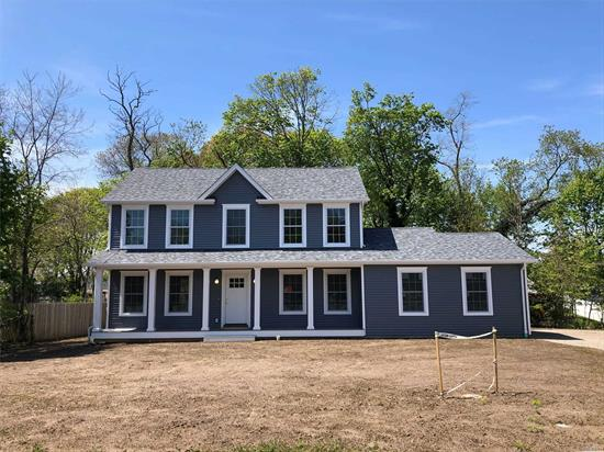 Mattituck North Fork - NEW construction loaded with value. Reside in the center of the hamlet w/immediate access to Love Lane shops, LIRR, community parks, creeks and beaches. 4 bedroom 2.5 bath home with wood floors throughout. Solar ready roof and LOTS of natural light inside. Still time to customize. Taxes estimated. Basement has egress for easy finishing. All appliances included - negotiate today and choose your tile and finish materials tomorrow!