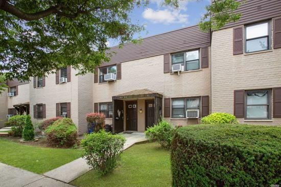 Beautiful Garden Apartment Located In The Heart of Kew Garden Hills. Steps Away From Parks, Public Transportation, Restaurants, Shopping Center, library, and House Of Worships.Very low maintenance. May Be Rented Out And Has No Flip Tax.