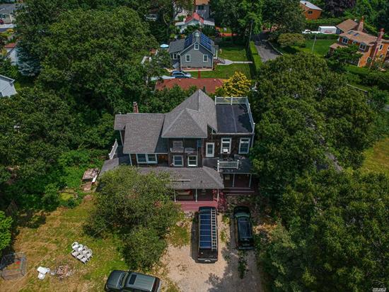 Amazing Potential... Project needs to be completed, mostly cosmetic, ... Has 30' Foyer Height, Trace Ceilings in 3 Bedrooms, 3 Roof decks, This house has great bones when finished will be breath taking, 4th bath plumbing in basement. Great finished potential.