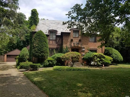 Synonymous With Deep, Rich Culture & History This Pristine Historic Brick Tudor Is Located In The Heart Of Jamaica Estates. Designed In 1936 By Famed Architect Edmund T. Mallory This Home Features 3, 360 Sq. Ft. Of Interior Space, 5 Br, 3.5 Bths, Grand Foyer, Sunken LR W/Stone Fpl & Custom Woodworking, Formal DR, Fam Rm W/French Drs, Library, EIK W/Breakfast Nook, 4 Staircases, Mstr BR Suite, 4 BR's, Fin Basement, 2-Car Gar, Lush Gardens W/Gazebo, 16, 000 Sq Ft Land Parcel (97'X165'), Rm for Pool