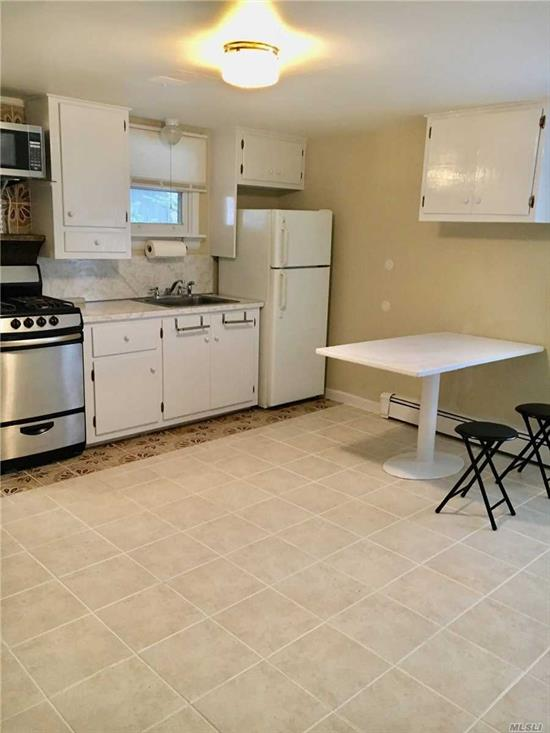 One bed room apt. With large living room.a.c.  Eat in kit. Covered terrace