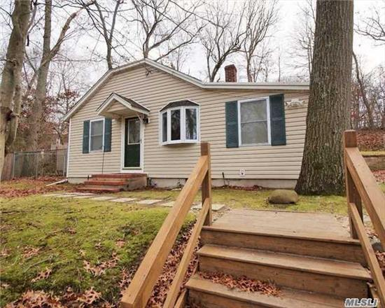 Lovely Ranch/Cottage. Private Location, Close to shopping, SUNY, Hospitals, Port Jefferson Village, Wood Floors, Lots of Storage, Bonus loft for office or play area.