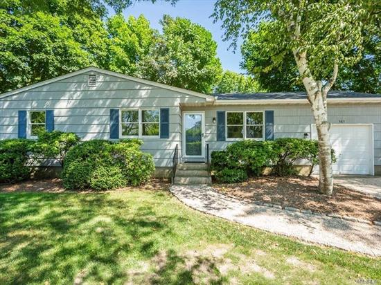 A must see 3 BR, 2 bath, Ranch , LR, EIk full basement, attached garage, brand new roof, kitchen appliances, Spacious yard room for pool, short distance to sandy bay beach or easy to the Village and shopping.