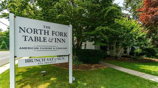 Established fine dining restaurant, catering truck, and inn for sale on the North Fork. Turnkey operation with excellent reviews and reputation.