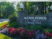 Carefree Lifestyle In Acorn Ponds at North Hills. Elegant 3 BR, 2.5 bth, Dogwood Model set in Prettiest & Most Picturesque Locations Surrounded by Beautiful Greenery & Ponds. Features, Sun-Filled L R w Fireplc, Wood Flrs, Slider Doors Lead to a terrace, spacious Kitchen w Bright Breakfast Room. Upstairs is the Luxurious Master Ensuite w master bth & skylight and 2 Additional Bedrooms, Closets Galore, Plus Full Bth. 2.5 car attached garage & storage. clubhouse, tennis, 2 pools, gym & low tax.