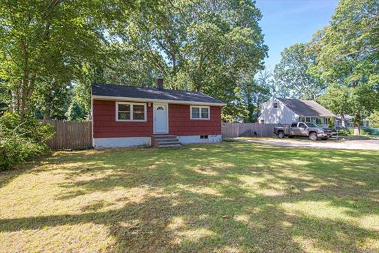 Tucked away amid the famed east end wine country surrounded by the beautiful inlets and easy water access for small craft and recreation. Many updates including New Architectural Roof, all new windows, electric, oil tank, separate hw heater, Updated crown molding, ceiling fan, new carpet. Large flat 244 x 100 backyard with storage shed. Taxes only $3607.36 w/basic star rebate. Peconic Bay Tax due at closing.