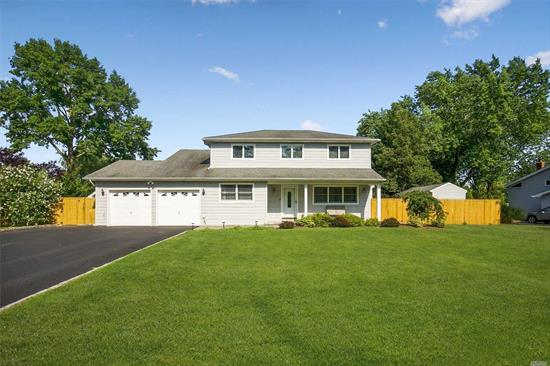 Beautifully maintained 5 bedroom 3 bath home finished hardwood floors, interior newly painted. professionally landscaped with updated belgium block driveway. 20x42x32 L-shaped inground pool heated with saltwater.updated roof and siding, updated stainless steel appliances in oversized eat in kitchen family rm.w/wood burning fireplace.master br suite w/full bath. central air conditioning, laundry rm on main level and much! much ! more. bring your fussiest buyers today.