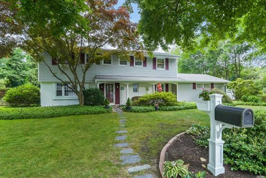 This beautiful Colonial is set on a peaceful and serene property in the delightful Southdown area of Huntington. New eat-in kitchen, 4 bedrooms, 2.5 baths and wood floors throughout. The living room offers a wood burning fireplace and French doors that lead to the rear patio and fenced in flat yard.