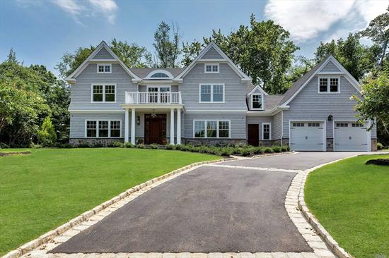 New Construction. Approx 5, 000 sq ft all beautifully appointed rooms, fabulous kitchen opens to great room. The entire house is trimmed with modern finishes and exquisite molding through out. First level includes Bedroom, Bath, mud room and laundry. The second floor offers a Luxurious master suite with dressing room , custom closets & magnificent master bath, 3 bdrms with 2 bths all w/radiant heat. LL, play & media Rm bdrm, bath all situated on beautiful shy of 1/2 acre property Close to ALL!