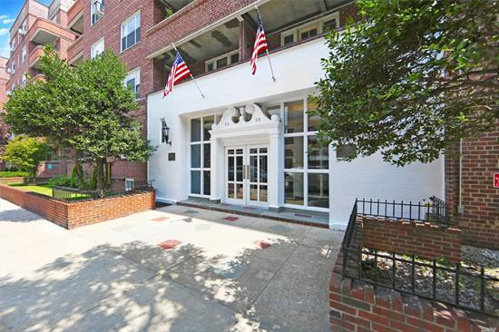 Convenience, Charm, Community! Beautiful Spacious Sunlit Apt Situated In The Much Sought Kew Gardens! Gorgeous Updated Galley Kitch W/Slate Tile, Top Of The Line SS Appliances, Quartz Countertops! Lovely Open Floor Plan Leads From DR To Large LR to Oversized Foyer! Through A Separate Wing You'll Find A Quiet Luxurious MBR, 2nd BR and Updated Bath! Tons of Closets! Very near LIRR, E/F, Buses, Shops, Restaurants, Etc!! Storage, Bike Room, Laundry, Playground, Pets OK! Extraordinary Opportunity!!