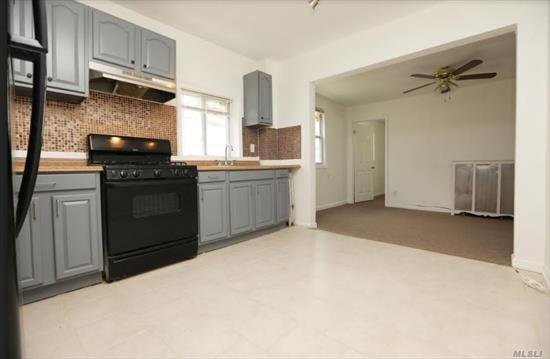 3 Bedroom, 1 Bathroom Duplex on 2nd and 3rd floor With 3rd Floor For Entertainment Space and Storage. Separate Entrance New Carpeting and Hardwood Floors. Close Ti E/F Trains. Only Water Included
