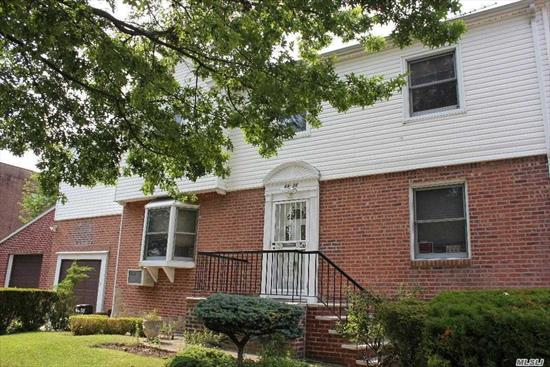 LARGE CENTER HALL COLONIAL, ALL BRICK, LARGE SIZE ROOMS, CORIAN KILIMANJARO COUNTER TOP IN KITCHEN AND IN THE BSMT BY DRY BAR, 3 BRS, 3.5 BATHS, BALCONY OVER GARAGE (BONUS RM), 2 CAR ATTACHED GARAGE WITH REMOTE OPENERS(ACCESS FROM THE HOUSE), WOOD FLOOR FINISHED ATTIC, FAMILY RM IN THE BSMT WITH DRY BAR, ROOF REPLACED IN 2004, INGROUND SPRINKLERS, BEAUTIFUL LAWN WITH EXPENSIVE SHRUBS