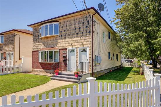 Fabulous Legal 2 - This Duplex features 2 very spacious and bright 3 bedroom 1 1/2 bath apartments Large Living room /dining Rm combos, Master bedrooms w/1/2 baths-First Floor has updated Eat-in-kitchen w/SS appliances Upstairs has H/W Floors and New family Bath, Lots of space. Pvt Driveway for 4 cars Gas heat and close to transportation & shops and Beaches