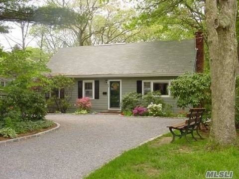 Charming Country Cape, private picturesque shy acre property bordering Greenbelt, versatile open floor plan, Updated bath, HW floors downstairs, NTN screening application required, fee paid by prospective tenant, part of basement reserved for owner storage. 2 year lease considered.