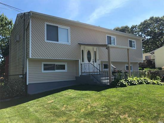 This expanded 6 bdrm, 2 full baths hi-ranch features large lr, dr, updated eik, granite counter tops, cac, new asphalt driveway over sized property, decking and patios, dedicated laundry room conveniently located from both levels, perfectly maintained grounds. STAR rebate = $1, 184