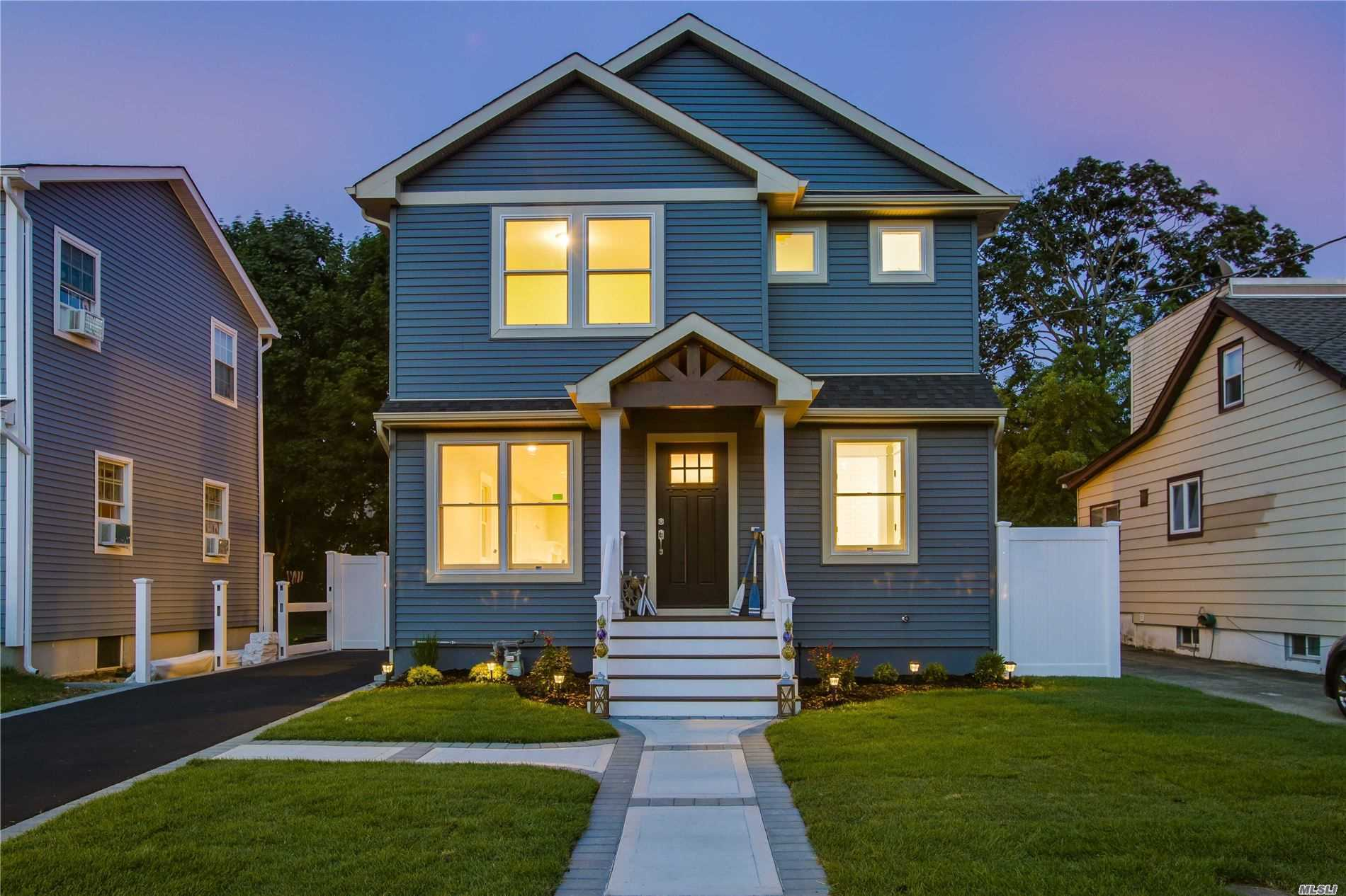 One Of A Kind 4 Bedroom, 3 Full Bathroom Custom Colonial. Brand New Everything W/ Open Floor Plan, Gleaming Hardwood Floors, Chef-Style Kitchen, Designer Bathrooms, All New Windows, Doors, CAC, Trex Deck, In-Ground Sprinklers, Landscaped Throughout. Make An Offer Before It's Gone!
