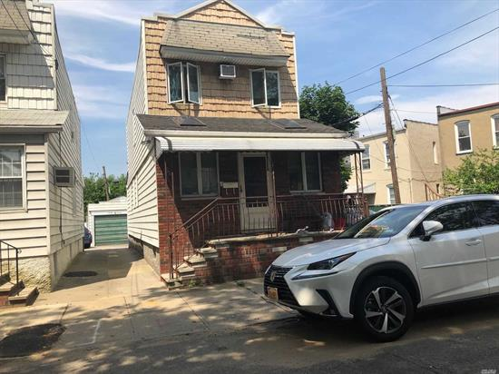 Detached modern one family, 3 bedrooms, detached garage, extra parking. Andersen Windows, Wood Floors, Finished basement, Close to express bus to Manhattan, Q 124.
