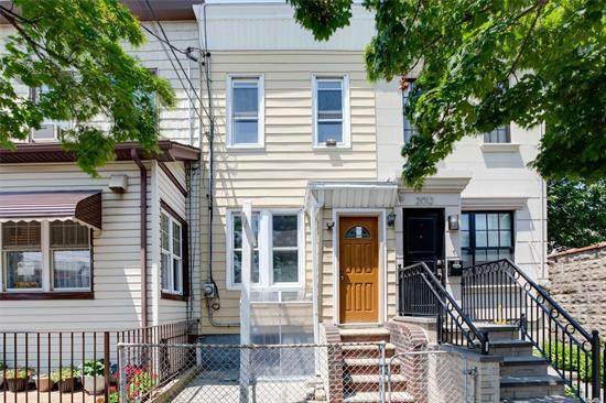 Beautifully Renovated Single Family Home in Astoria! This Turnkey Property Features Living Room, Updated Kitchen With Access To The Deck, 2 Bedrooms and 1 Full Bathroom. Freshly Painted with Hardwood Floors Through Out. Full Finished Basement With a Separate Entrance. Backyard to Entertain your Friends & Family. Prime Location! Very Close to Public Transportation & Just Mins To Manhattan. Close to Shopping, Schools, Astoria Park & So Much More!