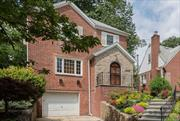 Jamaica Estates Beautiful Brick move-in ready home on OVERSIZED LOT 40'x163'. Room to Build! 3BRs, 1.5 baths. Finished Basement, sep.side entrance. Stately Oaks + 20 Evergreen trees provide Nature & Privacy. Very near transportation. Many updates include Refinished oak floors & newly painted interior, 2018. All 28 windows upgraded w Insulated Andersens in2016. New Gas Furnace, 2014. Granite Counters in Eat in Kitchen. GREAT SCHOOLS! PS131Abigail Adams K-5 (rated 8) George Ryan Jr High (rated 10).
