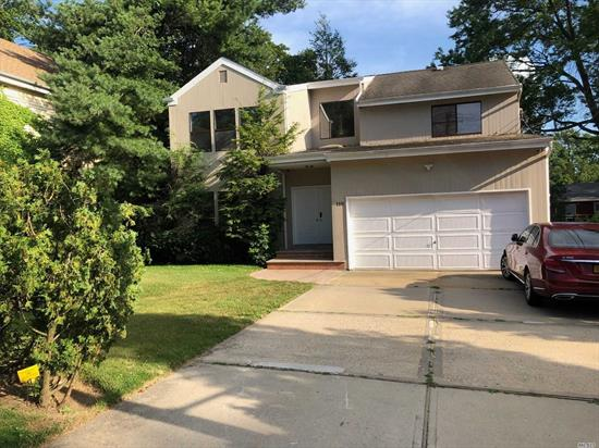 Sunny, bright and open space with a large deck in the backyard. Entry hall with cathedral ceiling and skylight lead to open space of LR, DR, EIK, laundry room, FR (with fireplace) sliding glass door to large deck in the backyard. One block from beautiful Thomaston park.