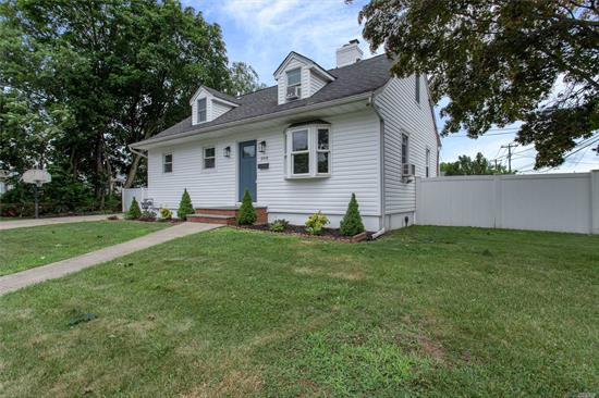 Move Right In To This Fully Renovated 3 Bed/2 Full Bath Expanded Cape Boasting Approx. 1, 900 Sq. Ft. Of Living Space Including Formal Living Room & Dining Room, Large Fam Rm/Office W/ Sliders, EIK W/ Stainless Appliances & Quartz Counters. 2nd Floor Private Mbed/Mbath Suite. Full Basement & Hardwood Floors Throughout. Located Blocks From LIRR, Shops, Bellmore Village & Schools. Over-sized Property, Not In A Flood Zone. Must See!!