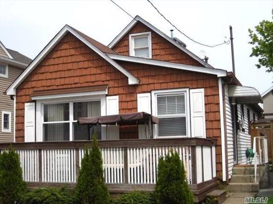 lovely ranch with full basement, attic, garage, updated kitchen,  close to private beach,  bay and boardwalk