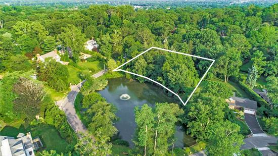 Opportunity To Own The Most Spectacular 1.15 Acre Sprawling Lot In Roslyn Estates. Overlooking Well-Known Black Ink Pond. Existing Stone Manor Home From The 1800's Can Be Restored Or Limitless Possibilities To Create Your Dream Home. Separate Garage On The Property. Location Is One Of A Kind And Rarely Found.