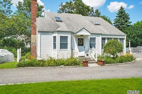 Charming Cape Cod offers 1760 Sq Ft of living space. Large LR with Built ins, DR, EIK, Master BR on 1st Floor, Sun-drenched 4 Seasons room, Updated Roof, Wood Floors, Updated Heating system, Updated Windows, New Oil Tank, New Electric Roll-up Awning on Deck, Beautiful property, Connetquot schools.