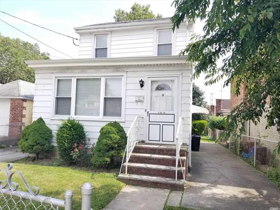 Prime area in North Flushing, near to community park & Bowne park, bus and shopping, bedroom & full bathroom on the 1st floor, Great for a starter home or extension living space, perfect for professional office, nice backyard, very convenient location, bus Q15 to 7 train, the Best Value in Town!! A Must See!!