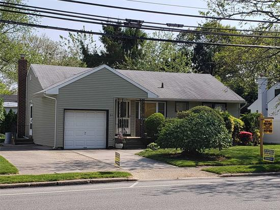 Large Lot 68 x 114 , Very Large Full Finished High Ceiling Basement with Full Bar,  Large Family Room With Radiant Floor Heat,  1 Car Large Garage with 4 car Driveway. Hewlett Woodmere School District #14 Lowest Priced Home in North Woodmere House need some Tlc