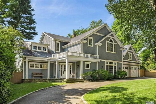 Completely Rebuilt Colonial At End Of Quiet Dead End Street. 2 Story Entry, 10 ft ceilings, Wood FloorsThrough-Out 1st And 2nd Floors. Den With Fireplace, Center Island Custom Kitchen, Master Suite On 1st Floor, Fully Finished Basement, With Outside Entrance, Gunite Salt Water Solar Heated Pool, Covered Rear Trex Deck. Huge Unfinished Attic Over 2 Car Garage. This Beautiful Home Has Every Amenity. Sea Cliff Elementary*