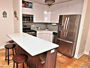 Renovated Open Kitchen, Bath, Living/Din.Room, Lg.Bedroom.View Of The Bridges, The Bay & The Manhattan Skyline.24Hr.Doorman/Security.State Of Art Gym.On Premises Shopping Arcade W/ Restaurant/Deli/Grocery Store. Beauty Spa, Pool, Gym, Tennis & Party Rm.Close To All Shopping And Transportation.Total Maint $1085.06 Including Taxes.      Garage Xtra