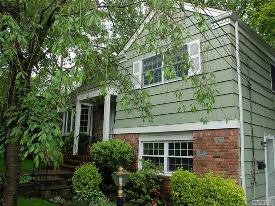Spacious 3 Bedroom 2 Full Bath Eat In Kitchen, Laundry, Formal Dining Room with Access to Covered Porch, Terrace off Master Bedroom Heat Included 1 Car Garage Large Backyard LIRR within close walking distance.