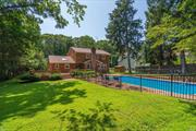 Situated only 1 mile to Gold Star Beach & Village, this 4 bed/2.5 bath Colonial w/ front porch sits on .38 acres of property w/ saltwater pool & mature landscaping. Foyer features marble floor & leads to living, dining, & family room w/ brick fpl. Master en-suite w/ ample closet space, oak flrs throughout, & first flr laundry off kitchen for added convenience. Eat-in kitchen with granite countertops, stainless steel appliances & glass sliders to deck overlooking backyard, great for entertaining!