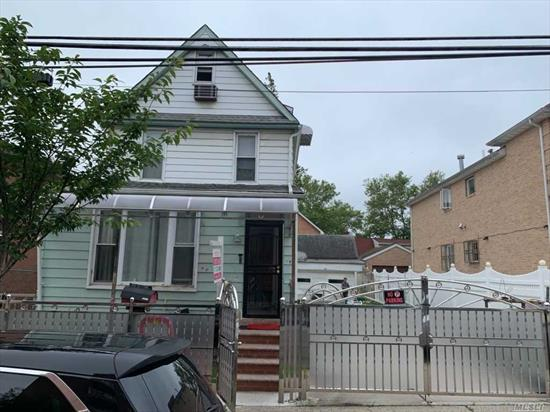 Second floor apartment -- 2 bed / 2 full bathrooms ! Huge bedrooms - wood floors,  ! walk to buses and Mcdonalds, Supermarket and more !  *** Attic room for storage is available - please inquire.