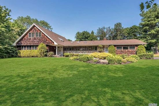 Tuxedo Hills-Impeccably Maintained Home On Quiet Cul-De-Sac Block. Largest Farm Ranch Built In Hills W/Spacious Rooms, Vaulted Ceilings, Oak Flrs, 5 Large Br (Master Br 1st Flr) 3.5 Baths, Wall Of Windows Overlooking A Beautiful Sunny Open Acre With a Pool. Home Backs 5 Acres Of Land. Panoramic Windows in Your 1 Yr New Kitchen, 2 Yr Roof & Updated Bathrooms. Oak Flooring under carpeted areas. Come Join This Close Community!