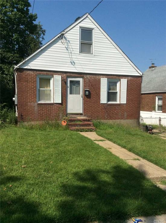 House Needs Some TLC, 6 Yr old Roof, Brick and Vinyl, Cape with Lots of Potential