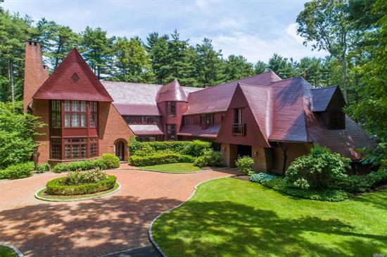 Upper Brookville. Tucked Away On 5 Acres In The Village Of Upper Brookville, A Mystical And, Perhaps, Even Magical Estate Welcomes All With A Warm And Charming Presence. Designed And Custom Built By Ike Kligerman Barkley, With A Marriage Of American Shingle Style And English Arts And Crafts, This 5-Bedroom, 7.55-Bath Home Is Exquisitely Crafted With The Finest Materials And Craftsmanship. Complete With Inground Pool & Pool House, Formal Gardens, & 4 Car Garage. A Very Special Home And Must See!
