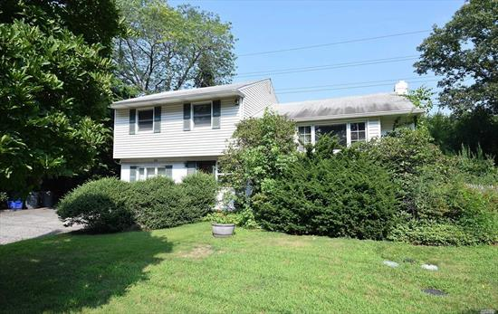Roslyn School District! Lovely Split Level House on a Deep 85X125 sized Lot.Only minutes from Greenvale LIRR Station, Features 3Bed 2 Bath, Entry Foyer, Office, Living Rm, Formal Dining Rm, Modern EIK w/Sliding door to Large Deck & Huge Back Yard, Full Finished Basement w/Sep Entrance, Beautiful Hardwood Fls, CAC, Skylights, Gas Heating, 2Car Drive way..Close to LIRR, Golf course, commercial area, Enjoy privacy Living with Expansion possibilities.