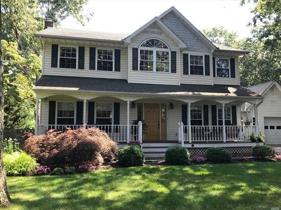 Immaculate 3 Bedroom 2-1/2 Bath Colonial, Living Room W/ Gas Burning Stove, Gleaming Hardwood Flooring Throughout, Formal Dining Room, Large Kitchen With Sliders To Deck, Picture Perfect Back Yard W/In Ground Pool, Master Suite with Full Bath, 2 Bedrooms, Full Bath,