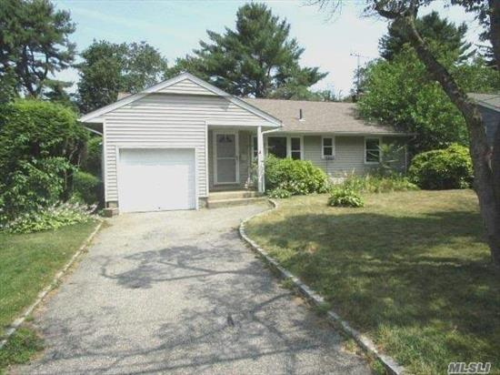 Detached Ranch in Glen Head on A Quiet Residential Block, With Attached Garage. It Features 3 Bedrooms, A Living Room, Eat-In-Kitchen, A Full Bath and a Good Size Back Yard. Needs TLC; However, It Is Priced to Sell and Will Not Last.